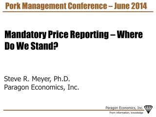 Pork Management Conference – June 2014