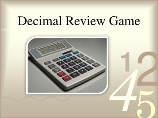Decimal Review Game