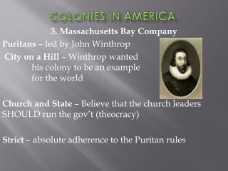 Colonies in America