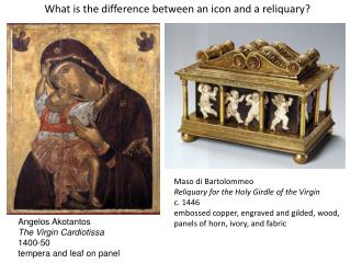 What is the difference between an icon and a reliquary?