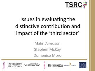 Issues in evaluating the distinctive contribution and impact of the 'third sector'