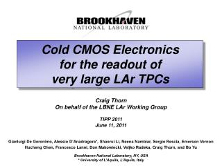 Cold CMOS Electronics for the readout of very large  LAr  TPCs