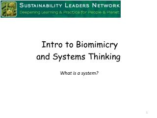 and  Systems Thinking