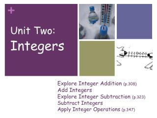 Unit Two: Integers