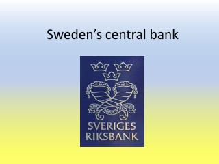 Sweden's central bank