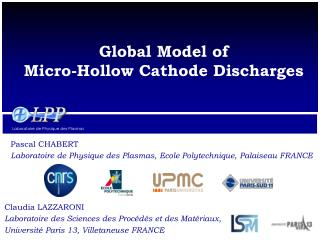 Global  Model  of Micro-Hollow Cathode Discharges