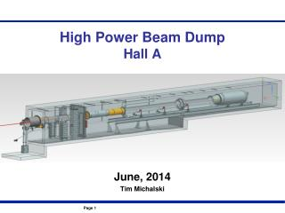 High Power Beam Dump Hall A
