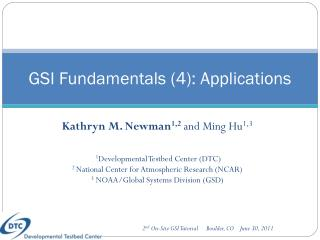 GSI Fundamentals (4): Applications