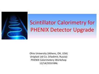 Scintillator Calorimetry for PHENIX Detector Upgrade