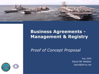 Business Agreements -  Management  Registry