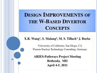 Design  Improvements  of the W-Based Divertor Concepts