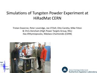 Simulations of  Tungsten  Powder Experiment at  HiRadMat  CERN