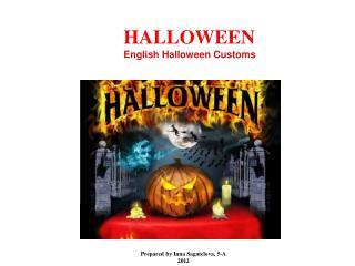 HALLOWEEN English Halloween Customs