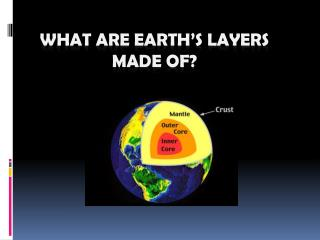 What Are Earth's Layers Made Of?