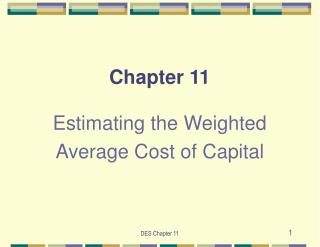 Estimating the Weighted Average Cost of Capital