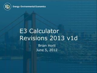 E3 Calculator Revisions 2013  v1d