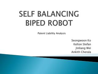 SELF BALANCING  BIPED ROBOT