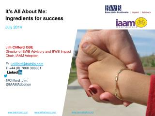 It's All About Me: Ingredients for success