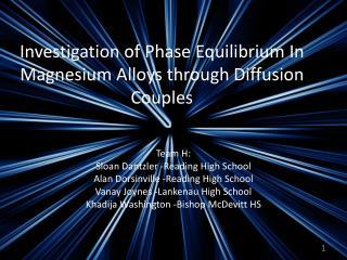 Investigation of Phase Equilibrium In Magnesium Alloys through Diffusion Couples