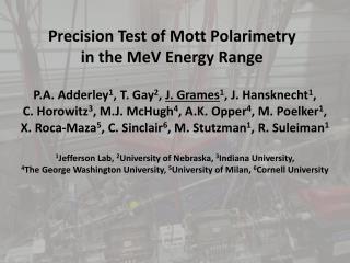 Precision Test of Mott  Polarimetry in the MeV Energy Range