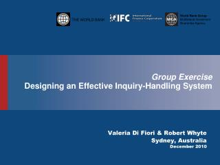 Group Exercise Designing an Effective Inquiry-Handling System