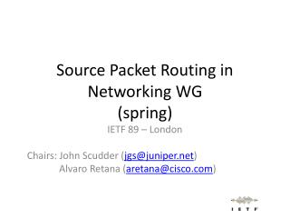 Source Packet Routing in Networking WG (spring)