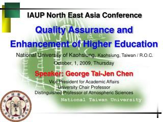 IAUP North East Asia Conference