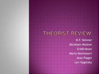 Theorist Review