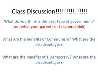Class Discussion!!!!!!!!!!!!!!!