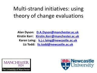 Multi-strand initiatives: using theory of change evaluations