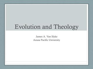 Evolution and Theology