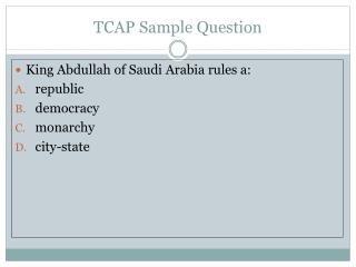 TCAP Sample Question
