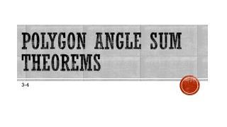 Polygon angle sum theorems