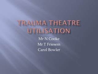 Trauma theatre utilisation