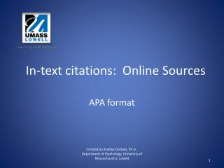 In-text citations:  Online Sources
