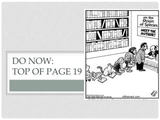 Do Now: Top of page 19