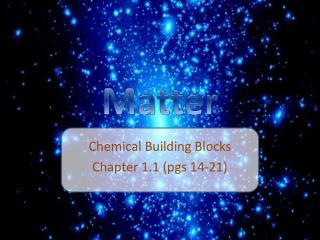 Chemical Building Blocks Chapter 1.1 (pgs 14-21)