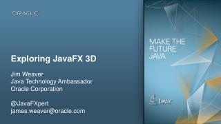 Exploring  JavaFX  3D