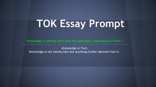 TOK Essay Prompt