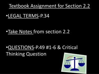 Textbook Assignment for Section 2.2