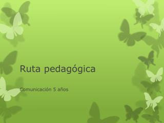 Ruta pedagógica