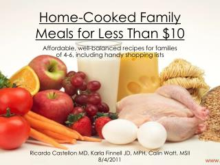 Home-Cooked Family Meals for Less Than $10