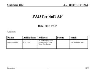 PAD  for Soft AP