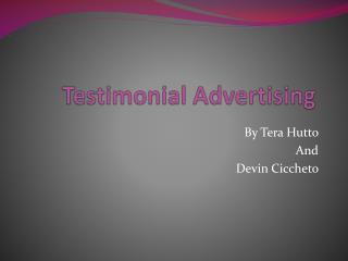 Testimonial Advertising