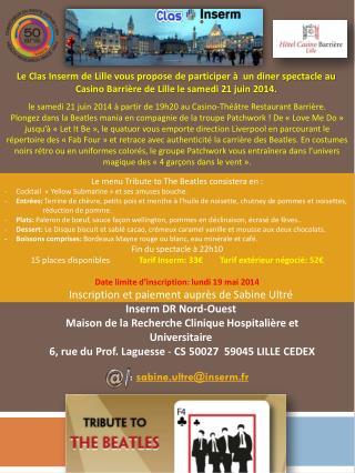 le samedi 21 juin 2014 à partir de 19h20 au Casino-Théâtre Restaurant Barrière.