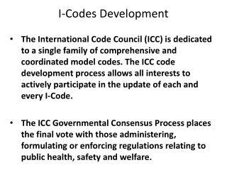 I-Codes Development