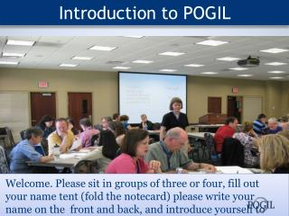Introduction to POGIL