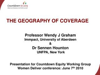 THE GEOGRAPHY OF COVERAGE