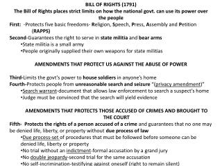 BILL OF RIGHTS (1791)