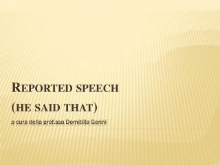 a cura della prof.ssa  Domitilla  Gerini